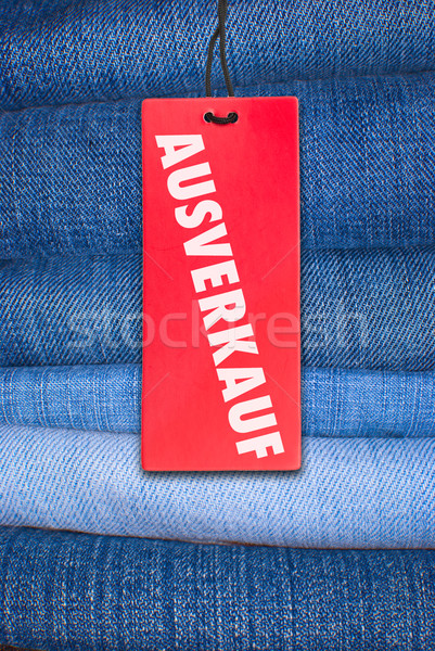 Jeans With German Sale Tag Stock photo © jamdesign