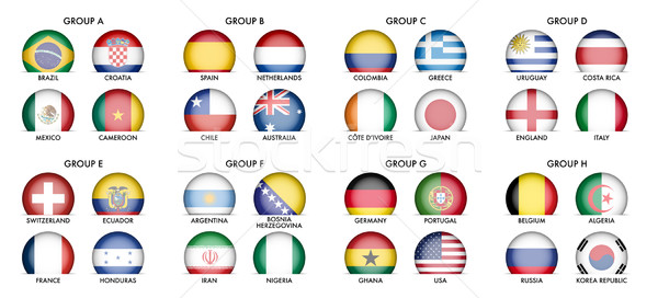 Collection of National Flags  Stock photo © jamdesign