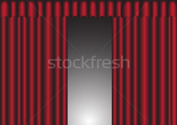 Red Curtain Stock photo © jamdesign