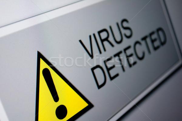вирус знак ЖК экране контроля Сток-фото © jamdesign