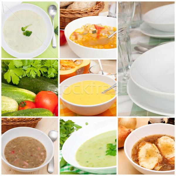 Soups Collage Stock photo © jamdesign