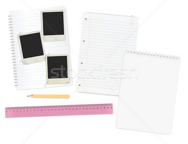 Stationery and Photo Frames Stock photo © jamdesign