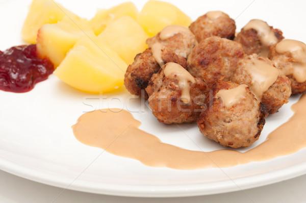 Сток-фото: мяса · картофель · мяча · еды · блюдо