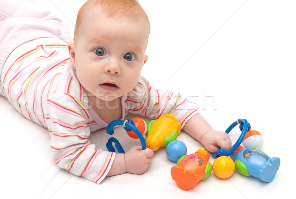 Stock photo: Playing Baby Girl