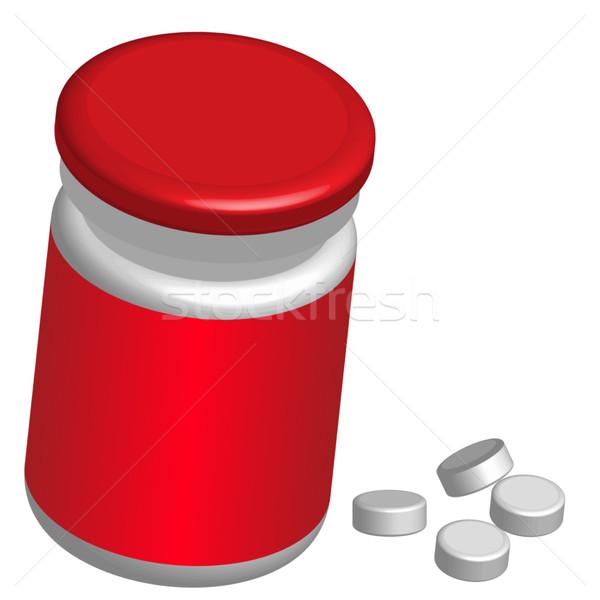 Bottle of Pills Stock photo © jamdesign