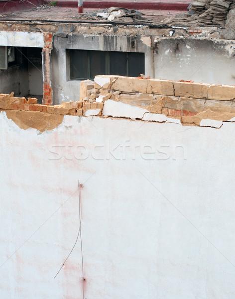 Demolición detalle casa edificio industrial peligro Foto stock © jamdesign