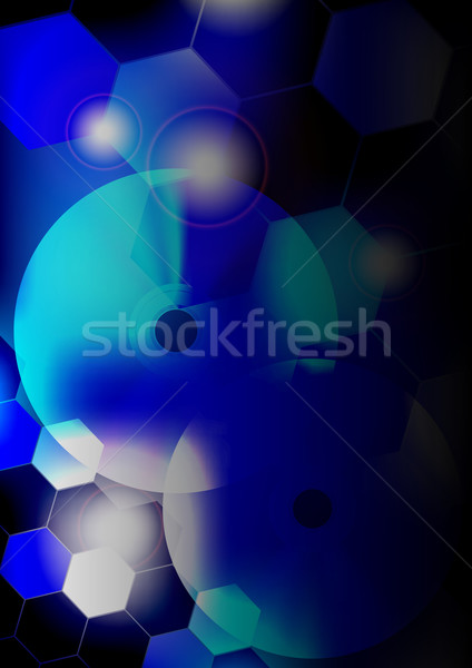 Blue Abstract Party Background Stock photo © jamdesign