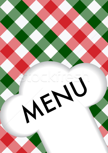 Menu signe chefs chapeau symbole Photo stock © jamdesign