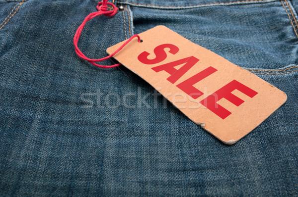 Stock foto: Jeans · Verkauf · Tag · braun