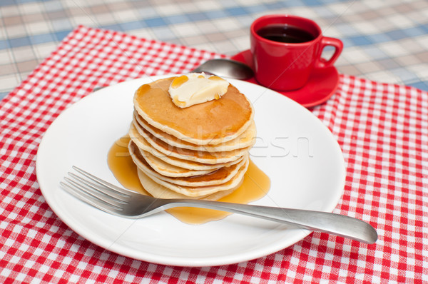 Pancakes With Butter and Maple Syrup Stock photo © jamdesign