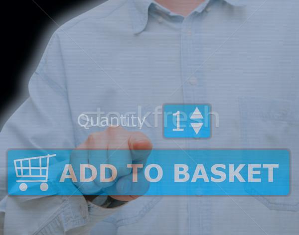 Add to Basket Button Stock photo © jamdesign