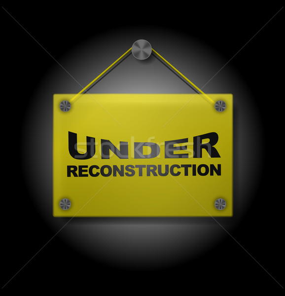 Under Reconstruction - Plexi Signboard Stock photo © jamdesign
