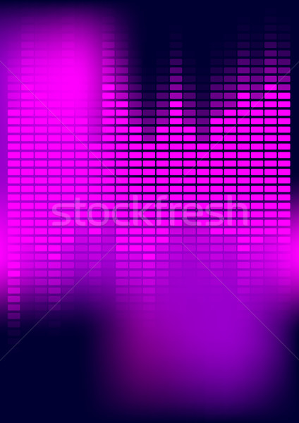 Abstract equalizzatore party viola magenta buio Foto d'archivio © jamdesign