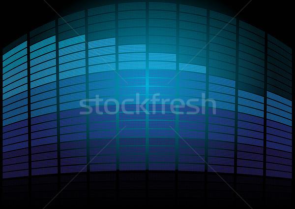 Mavi ekolayzer grafik bloklar siyah teknoloji Stok fotoğraf © jamdesign