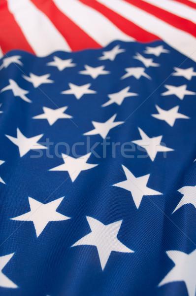 Stock fotó: Zászló · USA · részlet · selymes · Egyesült · Államok · Amerika