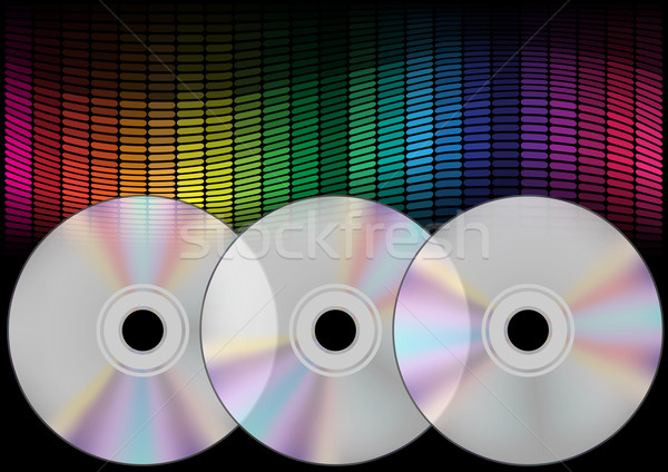Compact Discs and Equalizer Stock photo © jamdesign
