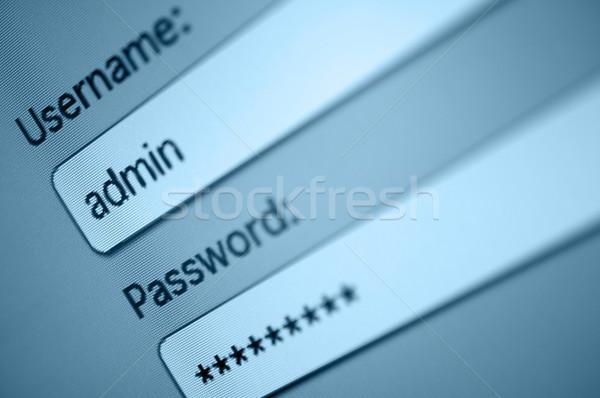 S'identifier boîte nom d'utilisateur administrateur mot de passe internet Photo stock © jamdesign