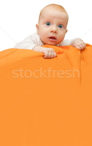 Stock photo: Baby Holding Sign