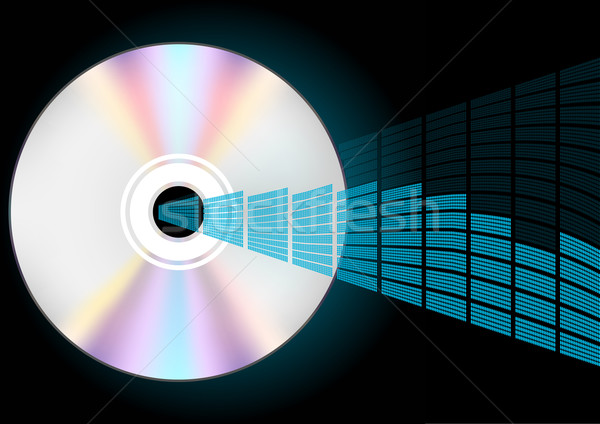 CD and Equalizer Stock photo © jamdesign