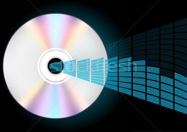 Cd ekolayzer örnek kompakt disk mavi grafik Stok fotoğraf © jamdesign
