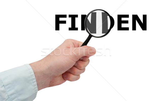 検索 バージョン 手 虫眼鏡 検索 ストックフォト © jamdesign