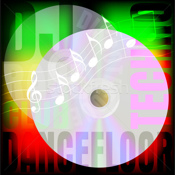 Festa fundo nota sinais música Foto stock © jamdesign