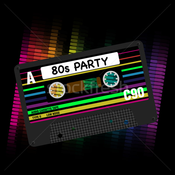 Vector 80s Party Background Stock photo © jamdesign
