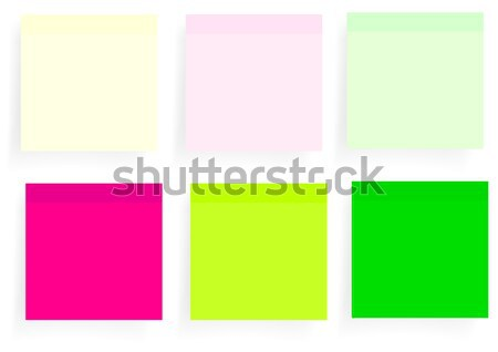 Establecer memorándum seis diferente colores oficina Foto stock © jamdesign