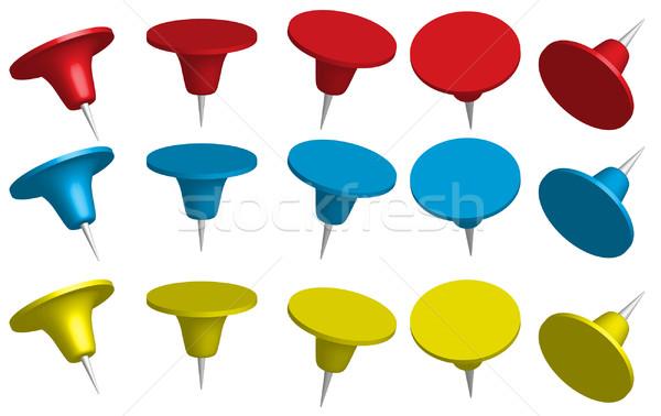 Set of Office Pins Stock photo © jamdesign