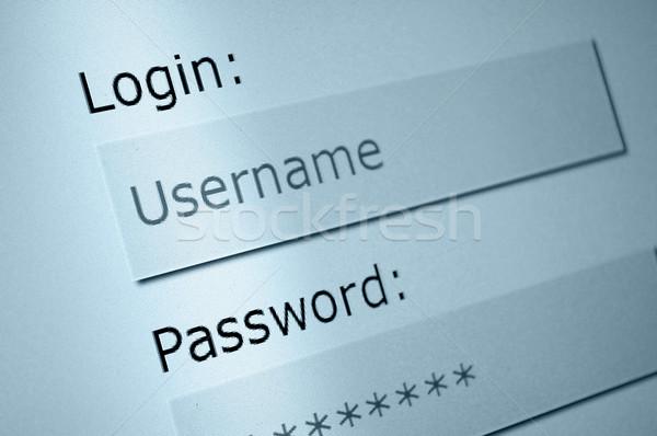 Giriş kullanıcı adı parola Internet tarayıcı bilgisayar ekranı Stok fotoğraf © jamdesign