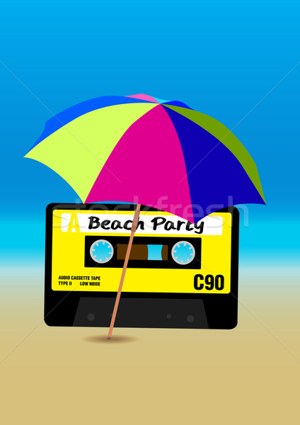 Beach Party Poster Stock photo © jamdesign
