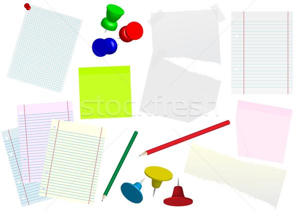Escritório artigos de papelaria conjunto documentos memorando Foto stock © jamdesign