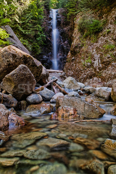 Waterfall with Rocks in Foreground Stock photo © jameswheeler