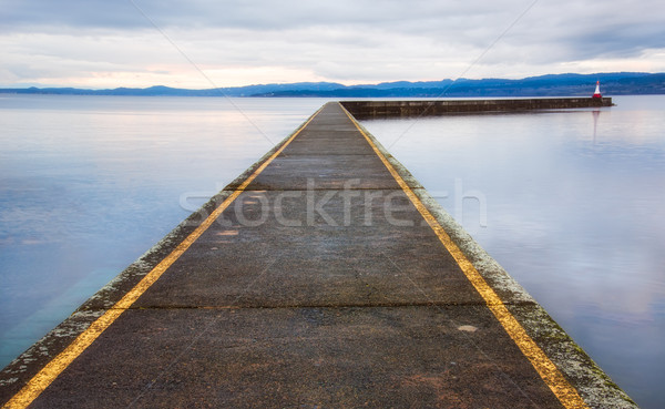 Ogden Point Breakwater Pier Stock photo © jameswheeler