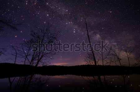 Milky Way with Large Twinkling stars Stock photo © jameswheeler