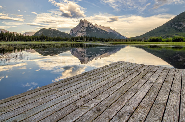 Vermilion Lakes Dock Side Stock photo © jameswheeler
