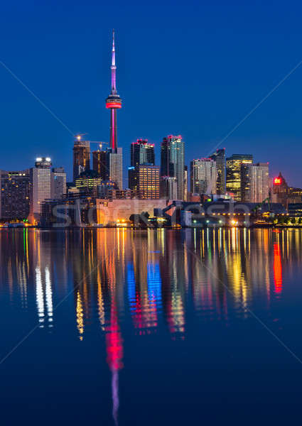 Vibrant Toronto Skyline With Reflection Stock photo © jameswheeler