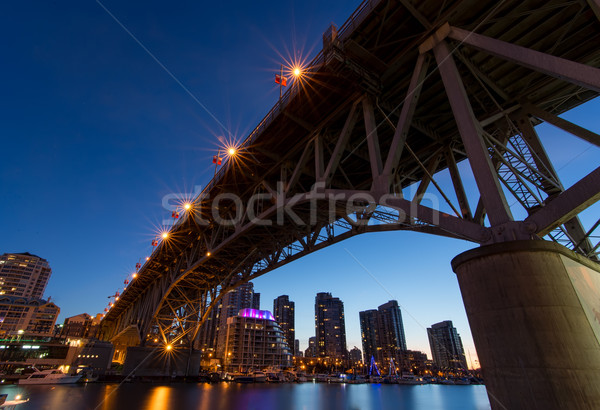 Granville Island Bridge on a Clear Night Stock photo © jameswheeler