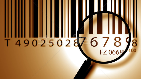 Photo stock: Code · à · barres · étiquette · lentille · affaires · résumé · éducation