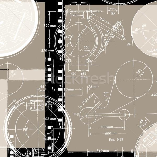 Stockfoto: Wiskundig · engineering · papier · textuur · school