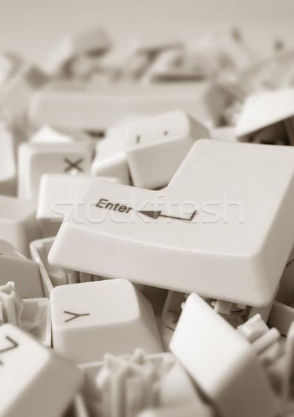 Computer sleutels abstract toetsenbord achtergrond Stockfoto © janaka