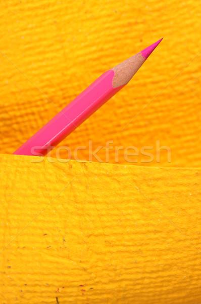 Gekleurd potloden abstract school pen Stockfoto © janaka