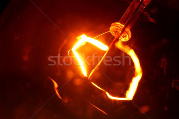 Stok fotoğraf: Tungsten · ampul · yangın · soyut · hızlandırmak