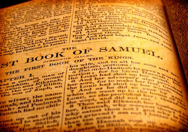 Szent Biblia közelkép antik húsvét könyv Stock fotó © janaka