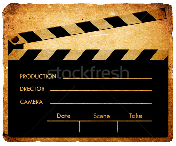 Clapboard screen Stock photo © janaka