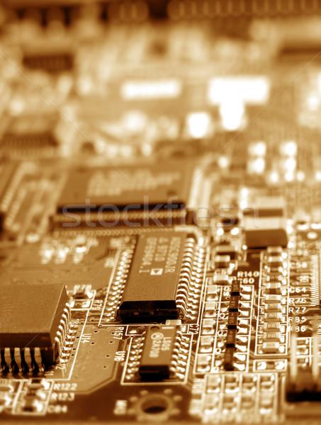 Eletrônico placa de circuito computador abstrato tecnologia Foto stock © janaka