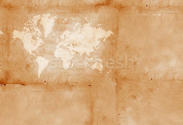 Vintage Мир карта аннотация фон ретро ржавчины Сток-фото © janaka