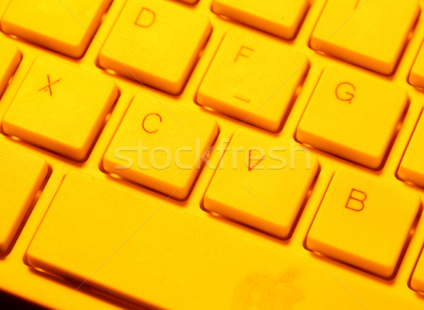 Toetsenbord business kantoor laptop Stockfoto © janaka