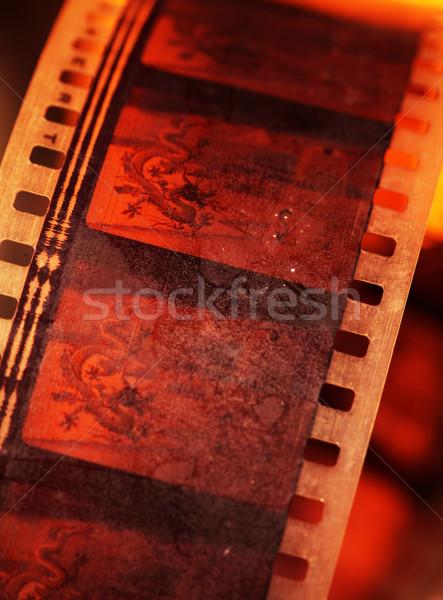 öreg film 35mm film filmszalag textúra Stock fotó © janaka