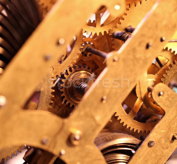 óra mechanizmus közelkép belső fém idő Stock fotó © janaka